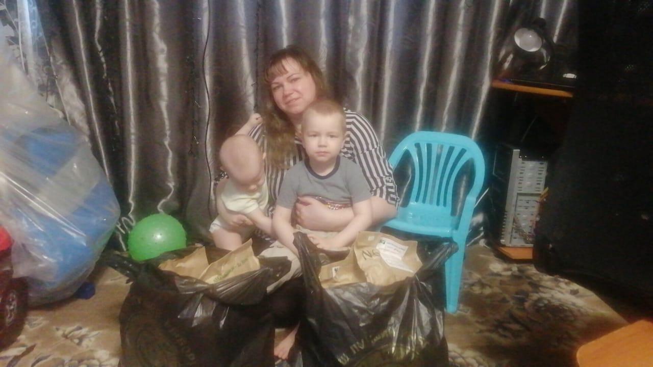 многодетная мама-3-детей