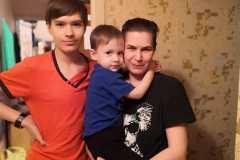 Елена-мать-одиночка-двое детей
