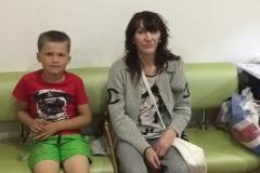Надежда, многодетная семья, 3 детей (на фото бабушка Елена с внуком)