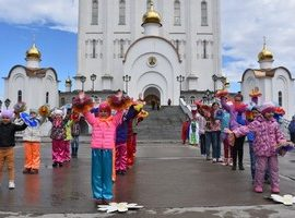 На Соборной площади Магадана прошла акция «Подари ребенку счастливую жизнь»