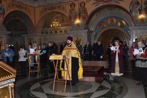 В Cвято-Троицком кафедральном соборе совершен молебен с чтением покаянного канона о грехе убийства чад во утробе (аборта)