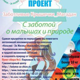 Первые результаты по проекту «Заботливые крышечки_Магадан»